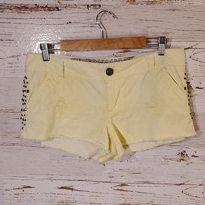 Daytrip capricorn studded shorts